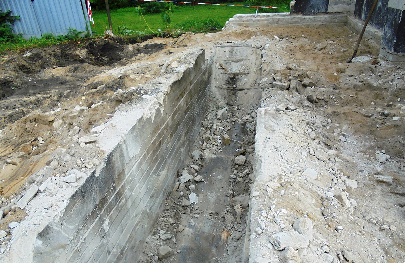 Maler Zossen Fundament Abriss